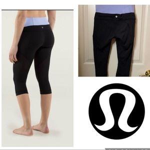 Lululemon invert cropped high waist black leggings